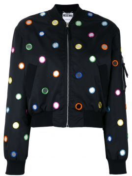 mirror embroidered bomber jacket Moschino