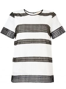 stripe panel T-shirt Michael Michael Kors