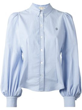 chest logo embroidered shirt Marc Jacobs