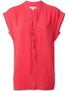lace-up neck T-shirt Michael Michael Kors