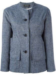 collarless buttoned jacket Isabel Marant