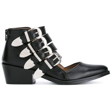 buckle strap cut out ankle boots Toga Pulla