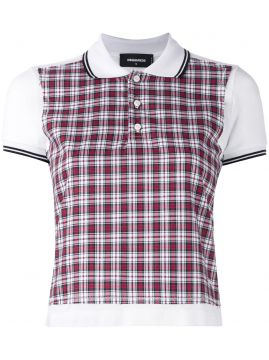 Camisa polo xadrez Dsquared2