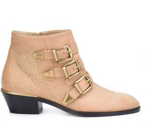 Ankle boot de couro modelo  Susanna  Chloé
