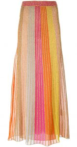 metallic seaming maxi skirt M Missoni