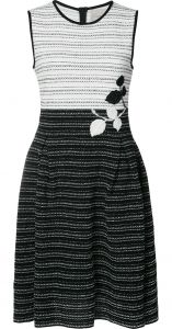 tweed colourblock knit dress Carolina Herrera