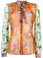 multi-print shirt Tory Burch