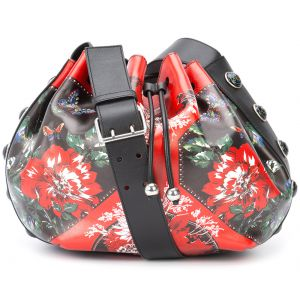 floral patch drawstring bag Alexander McQueen