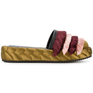 quilted tassel slippers Marco De Vincenzo