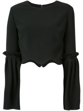 Blusa cropped Christian Siriano