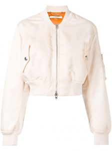 Jaqueta bomber cropped Givenchy