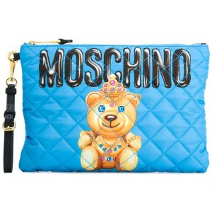 Clutch com estampa Moschino