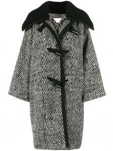 stripe oversized cocoon coat Chloé