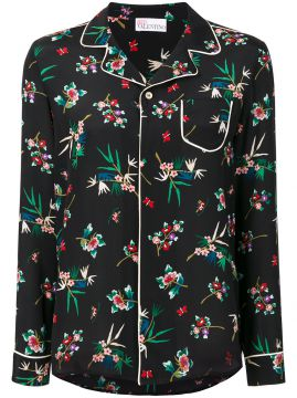 Camisa de seda  Wallpaper Flower  Red Valentino