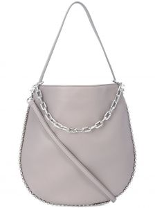 silver chain cross body bag Alexander Wang