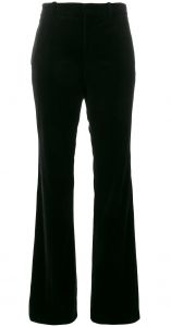 velvet flared trousers Gucci