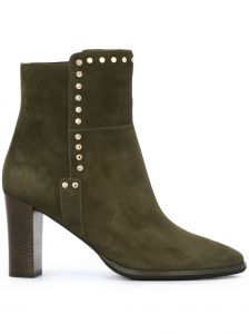 Ankle boot de couro modelo  Harlow 80  Jimmy Choo