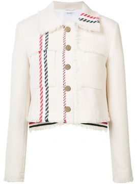 Jaqueta jeans cropped Thom Browne