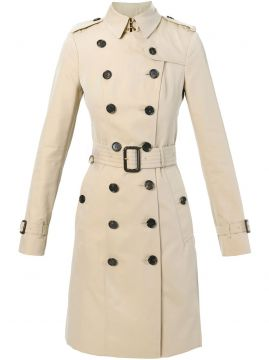 Trench coat com cinto Burberry