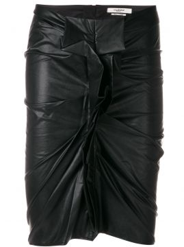 leather look ruched skirt Isabel Marant Étoile