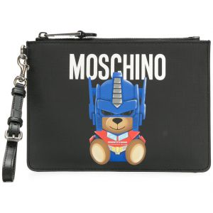 Clutch estampada  Transformer Bear  Moschino