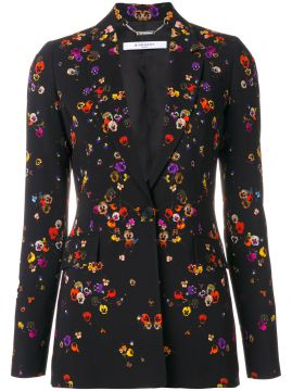 night pansies print blazer Givenchy