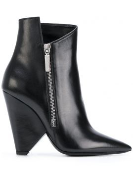 geometric heeled boots Saint Laurent