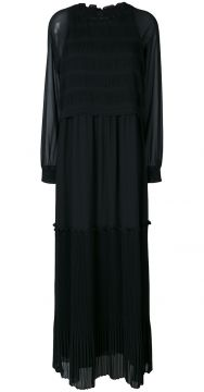 pleated maxi dress Steffen Schraut