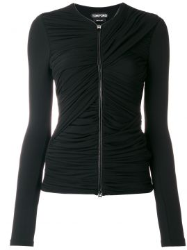 zipped ruched top Tom Ford