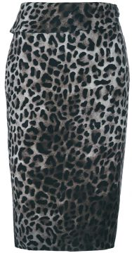 Saia reta leopardo Tom Ford
