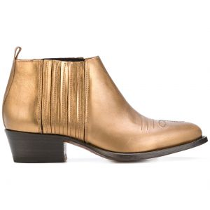 Ankle boot de couro Buttero