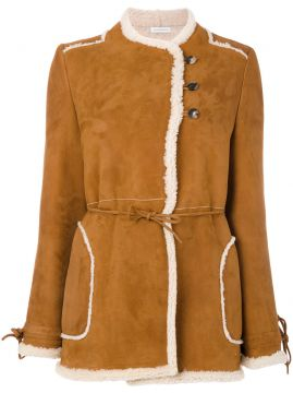 double breasted sheep skin jacket J.W.Anderson