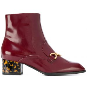 Ankle boot com detalhe de corrente Stella McCartney
