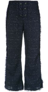 Calça cropped de tweed Animale