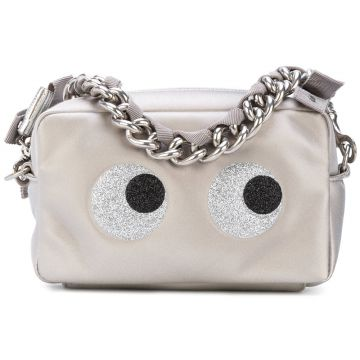 Clutch de couro Eyes Anya Hindmarch
