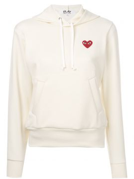 embroidered heart hoodie Comme Des Garçons Play