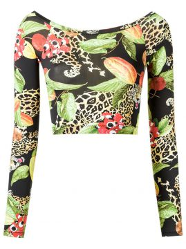 Top cropped estampado Isolda