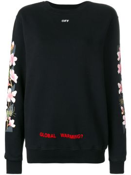 Moletom com estampa de flores Off-White