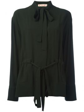 pussy bow placket blouse Marni
