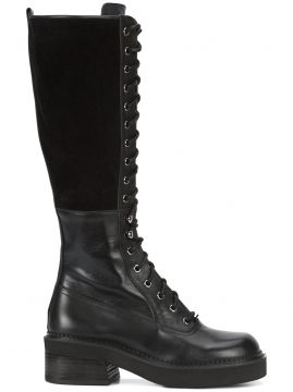 knee high combat boots See By Chloé