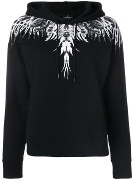 Moletom com capuz e estampa Marcelo Burlon County Of Milan