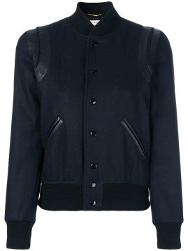 Jaqueta bomber cropped Saint Laurent