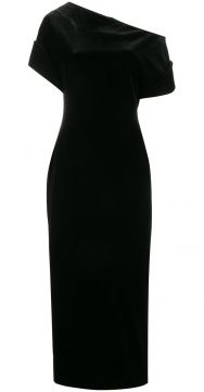 stretch velvet one-shoulder dress Christopher Kane