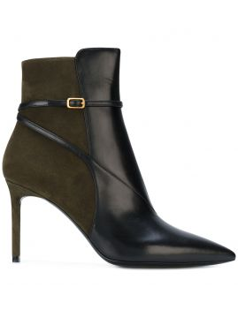 Ankle boot com bico fino Saint Laurent