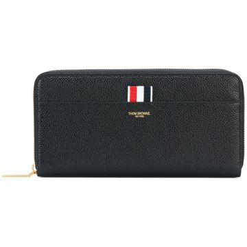 logo zip wallet Thom Browne