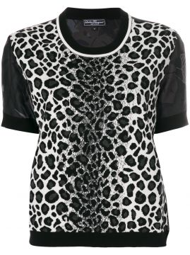 Blusa animal print Salvatore Ferragamo
