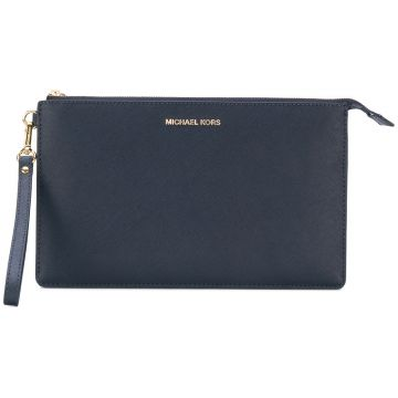 Clutch  Jet Set Travel  de couro Michael Michael Kors