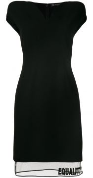 Equality V-neck fitted dress Versace