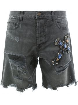 Short destroyed com aplicações Faith Connexion