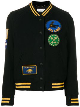 Jaqueta bomber com patches Coach